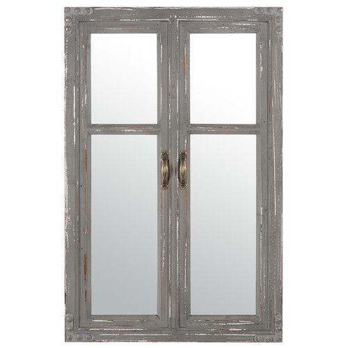 Grijze Edimbourg venster spiegel maisons du monde