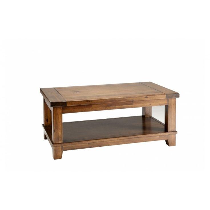 Royan: Coffee Table - Acacia/Acacia veneer Dark wood coffee table www.oakfurnituresupreme.co.uk