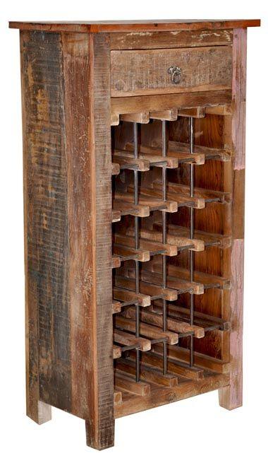 Zin Home Vintage Reclaimed Wine Cabinet