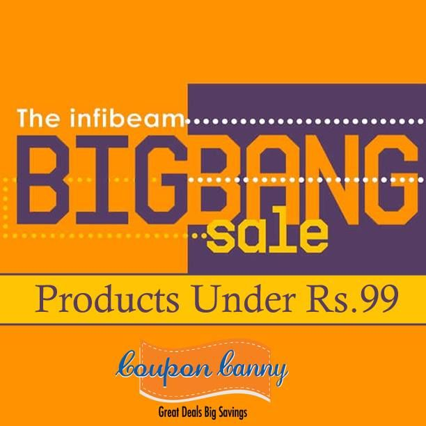 Big Bang #Sale : Products Under Rs.99 at #infibeam! Claim Now : http://www.couponcanny.in/infibeam-coupons/