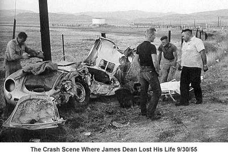 james dean crash Aniversario de la muerte de James Dean en su Porsche 550 Spyder
