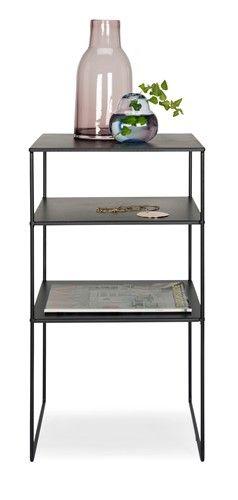 Mood sängbord i svart metall.