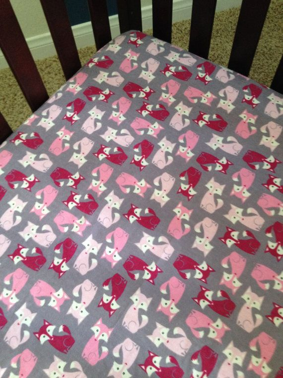 Foxy Baby Fitted Crib Toddler Bed Sheet By BabySuzannaJohanna 2000