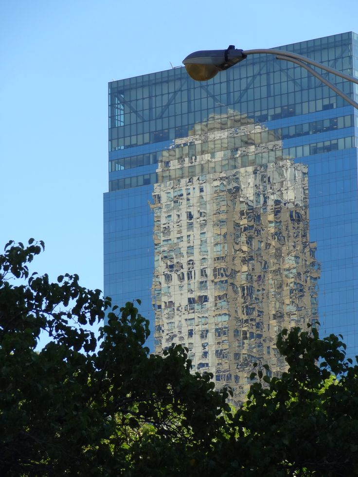 Trump Tower reflected