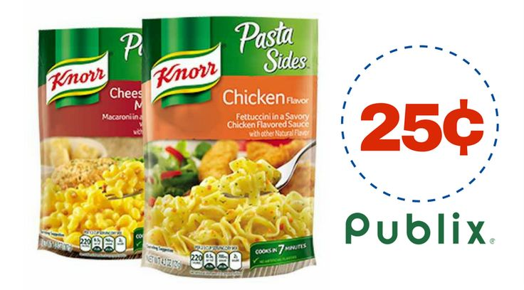 Time to get those pantries stocked up with this awesome deal on Knorr Rice or Pasta sides this week at Publix, for ONLY 25¢!! Here's the Deal: Buy2Knorr Sides, Assorted Varieties, 3.8-5.9 o