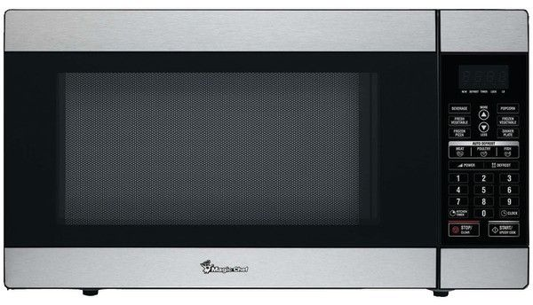 Magic Chef - 1.8 Cubic-ft, 1,100-Watt Stainless Microwave with Digital Touch