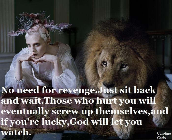 No need for revenge.Just sit back and wait.Those who hurt you will eventually screw up themselves,and if you're lucky,God wil let you watch.