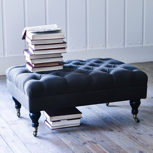 Elbert buttoned footstool, from Rowen & Wren.