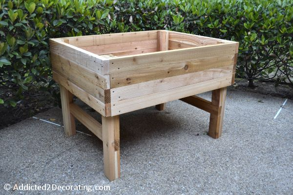 how to build an elevated garden bed table 17