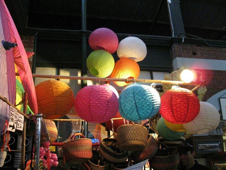 Lanterns in Fremantle Market
