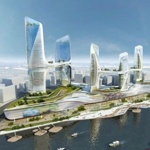 Tongzhou Central Business District   by UNStudio / China