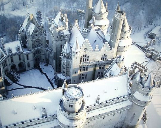 Chateau de Pierrefonds, France.                                                                                                                                                                                 More