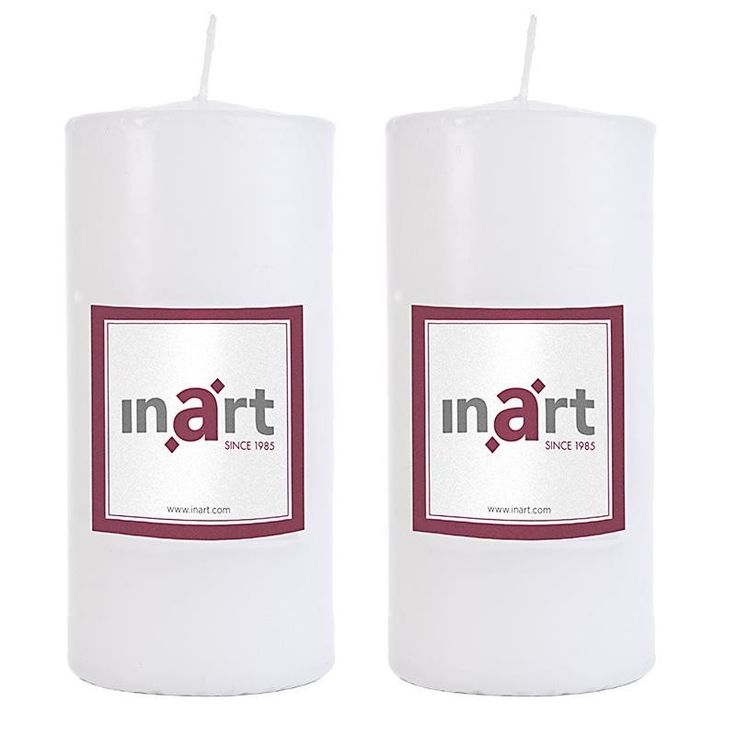 Pillar Scented Candle Set Of 2 Pieces - Candles - Aromatics - DECORATIONS - inart