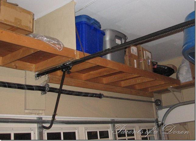 Learn Diy Shelf Above Garage Door Bench