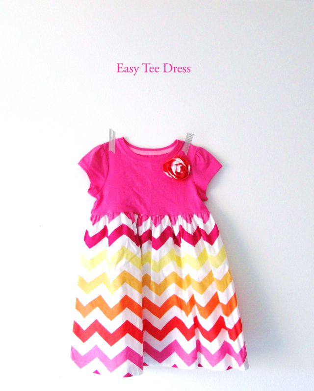 I'm excited to share with you a super easy (and cute!) kid's tee-shirt dress tutorial from Seams Sew Cool Studio, a sewing school for kids out of Duluth, Mn. The tutorial uses a pre-made jersey t-shirt for the dress top which not only greatly simplifies the pattern, but also lays the foundation for a comfy summer dress for your little one! Materials List: size 2t (toddler size) t-shirt (I used a $5 top from Target.) marking tool fabric 15″ cotton fabric 42 to 45″ wide coordinating thread…