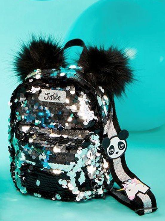 72e5fff2788 Justice Girl's PANDA Flip Sequin Mini Backpack New with Tags in 2019 ...