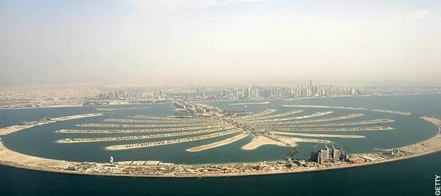 View of one of Dubai's palm islands, Dubai travel guide