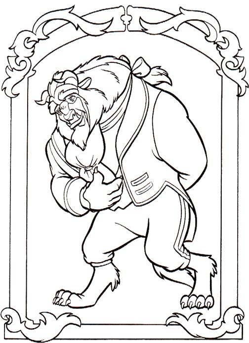 28 best Beauty and the Beast coloring book images on Pinterest
