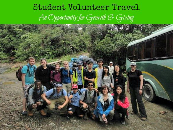 Student Volunteer Travel - An opportunity for growth & giving as an alternative to, or in addition to study abroad. #StudyAbroadBecause