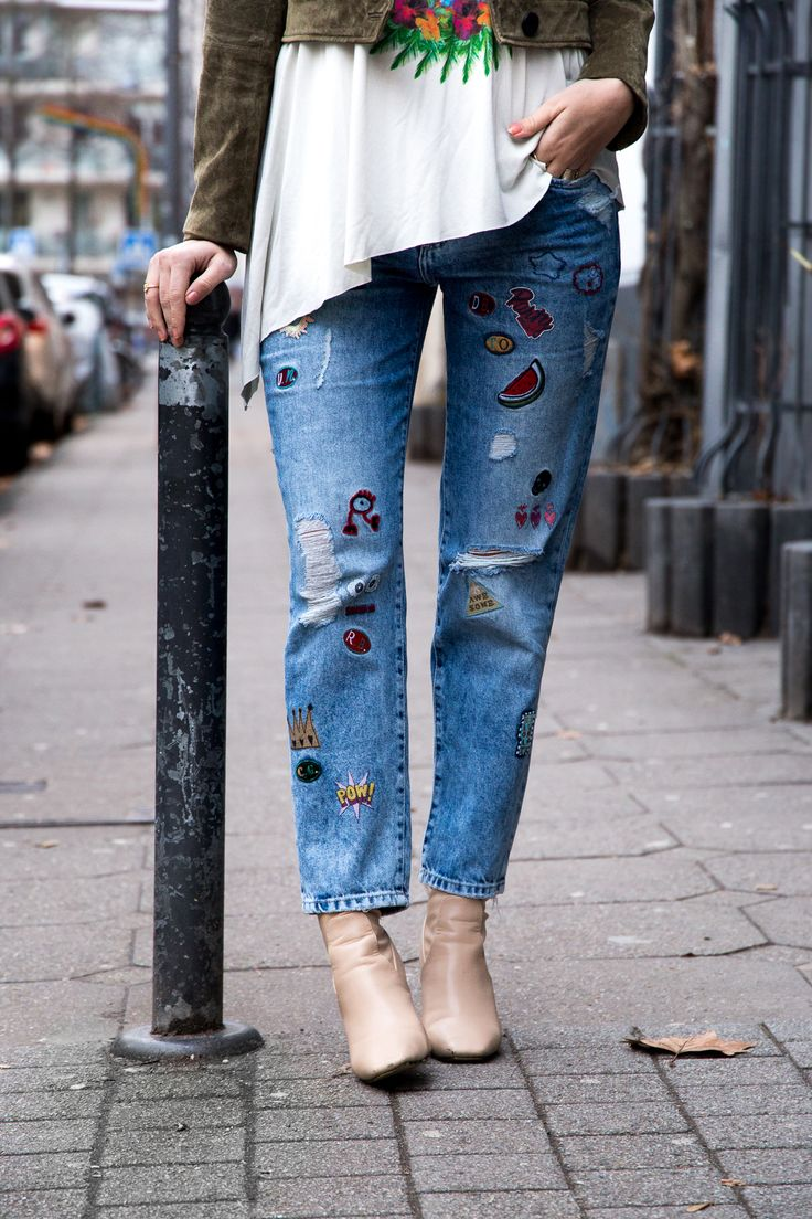 Zara Patches Jeans