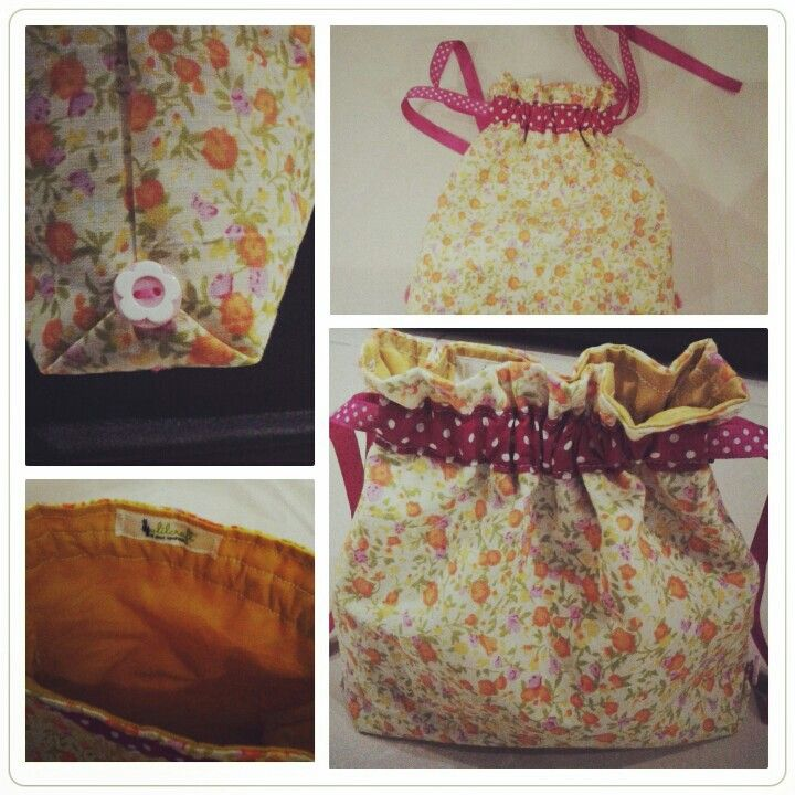 Fabric hand bag. For tutorial i will share it someday in my personal blog