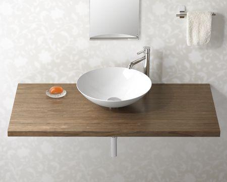 ナチュラルウッドカウンター 手洗い器 ベッセルタイプ イメージ