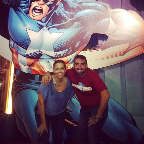 Capitán América nos cargo de mucha energía hace unos días y por eso vinimos cargados de energía para aportar a nuestro equipo!!! #yvolveraempezar porque #nuncaestarde