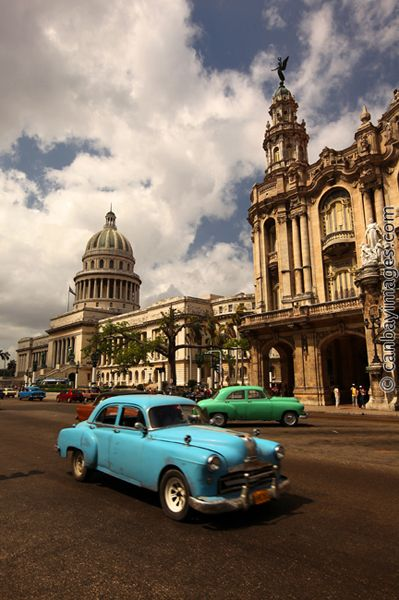 Havana, Cuba - stuck in the fifties. Largest collection of fifties American cars in the world?