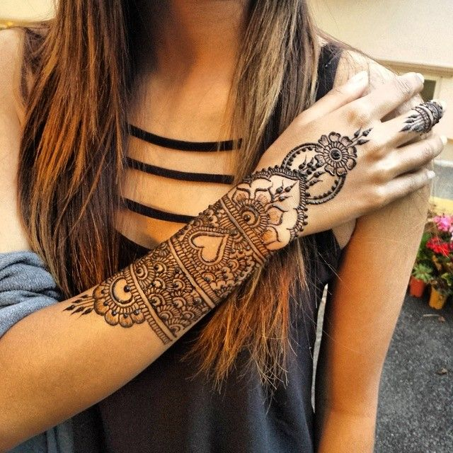 Full Arm Mehndi : Arm henna design pinterest beautiful mandala