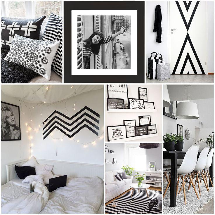 Mejores 67 imágenes de Decoración Blanco y Negro en Pinterest ...