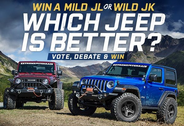 Vote For Your Favorite Jeep Wrangler Mild Jl Or Wild Jk In Jl Vs Jk Battle Of The Generations Giveaway For A Summer Sweepstakes Sweepstakes Jeep