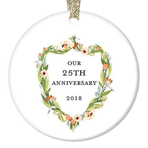 Twenty Fifth Wedding Anniversary Gift Ideas: 25th Anniversary Gifts, Twenty-Fifth Christmas Ornament