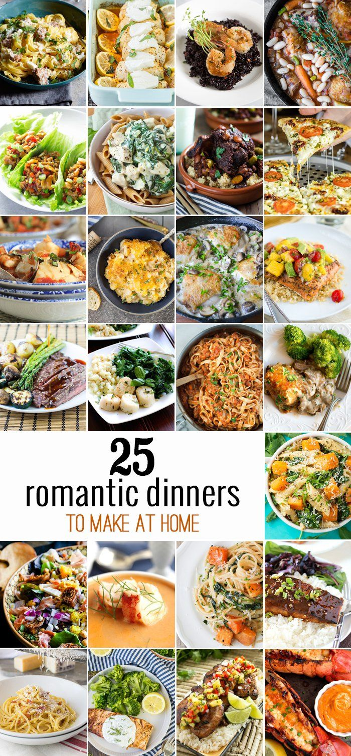 25 Romantic Dinners perfect for cooking at home! Perfect Valentine's Day Recipes easy for anyone to make and everyone to love!