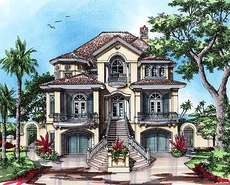 8 best images about blue prints on pinterest home design for Beach house plans mediterranean