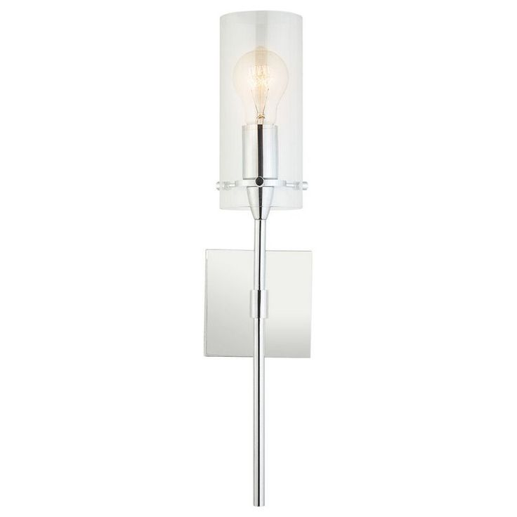 Add a touch of modern sophistication to your home with this 1 Light Wall Sconce. Ideal for bedrooms, bathrooms, corridors and entryways, this 1 Light Wall Sconce provides generous lighting for spaces large and small. It uses one medium base bulb and is compatible with a number of options, including incandescent (60W max), compact fluorescent and LED (bulb not included). It is fully dimmable when used with a compatible bulb.