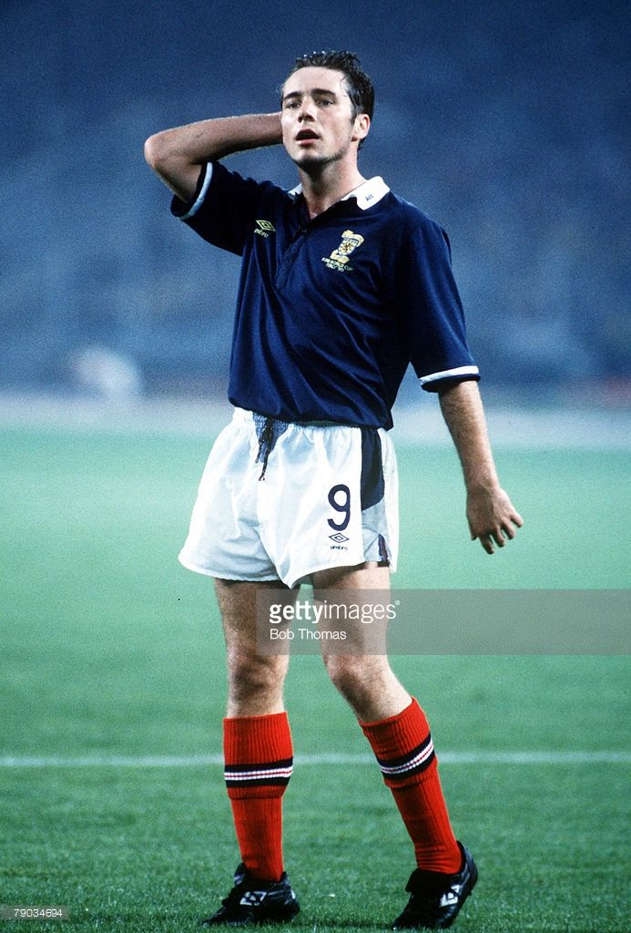Ally McCoist World Cup Finals Turin Italy 20th June Brazil 1 v Scotland 0.