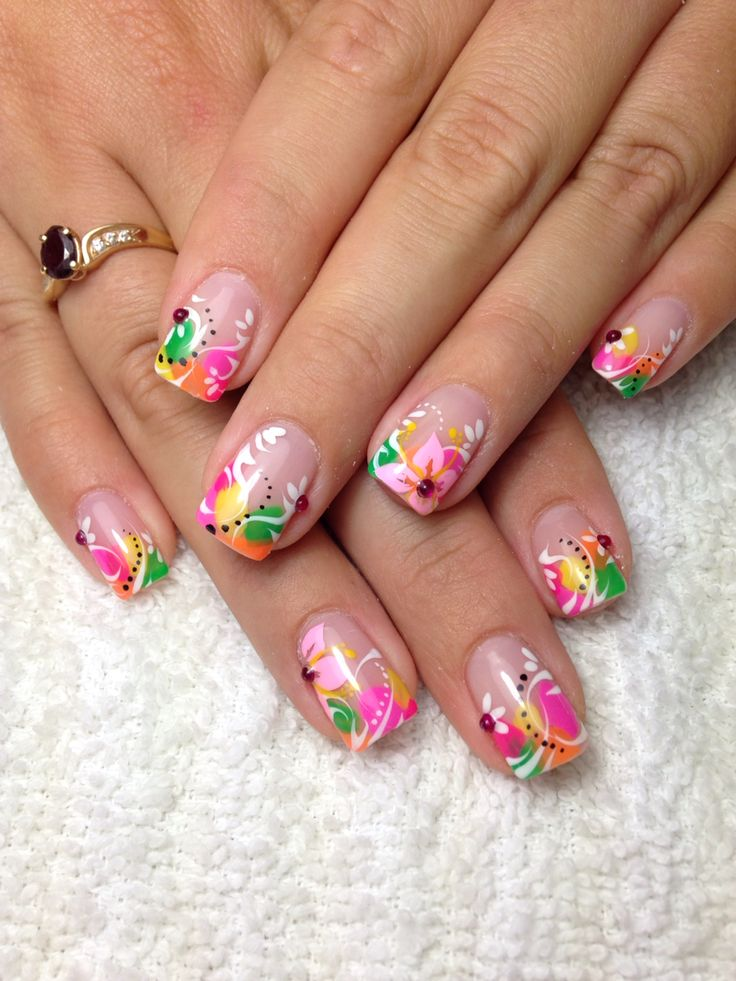 42 Best Spring Nails Images On Pinterest Cute Nails Nail Design