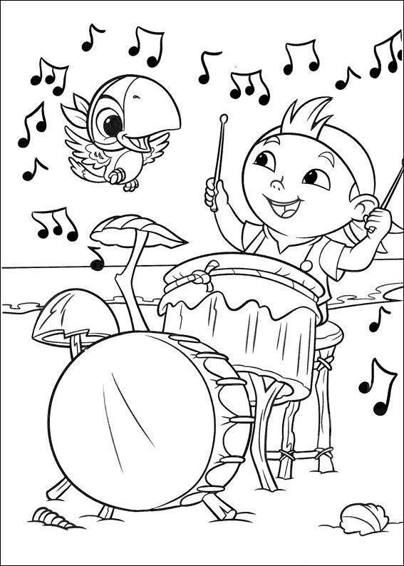 Jake Et Les Pirates Du Pays Imaginaire Dessin De 14 Musica Para Ninos Musica Infantil Educacion Musical