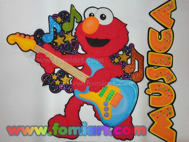 Elmo Con Guitarra Fomiart