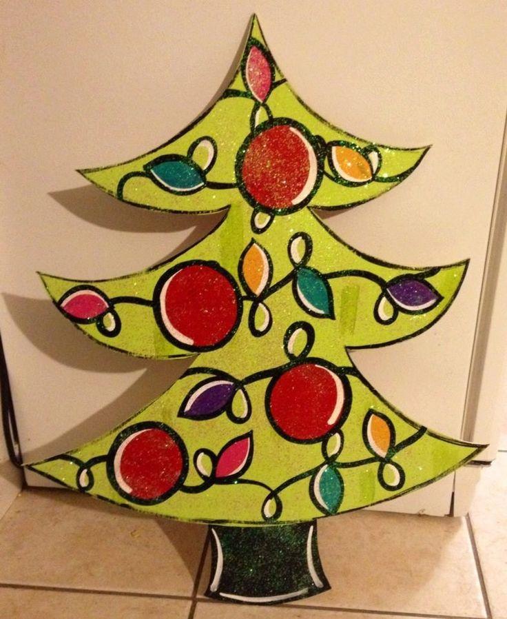 53 best Christmas Tree Door Hangers images on Pinterest | Wooden . & wooden christmas tree ornaments to paint - neologic.co pezcame.com