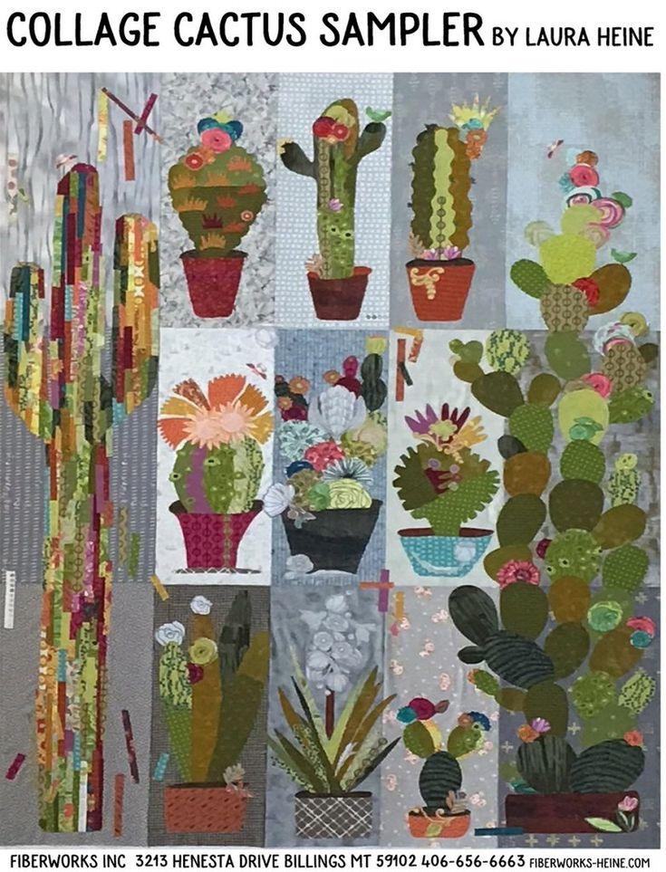 Collage cactus sampler flower quilts applique quilt