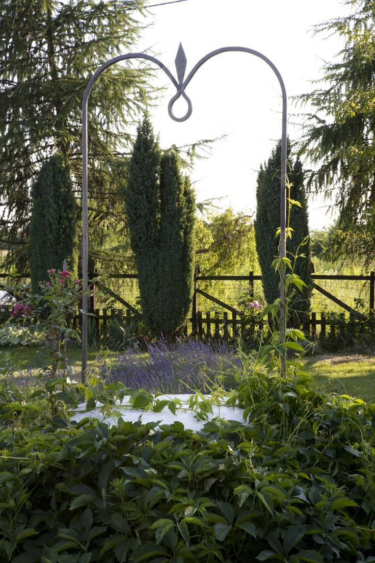 Ogród na wsi. Widok z okna tarasowego. Projekt Joanna Paszko Ochotny