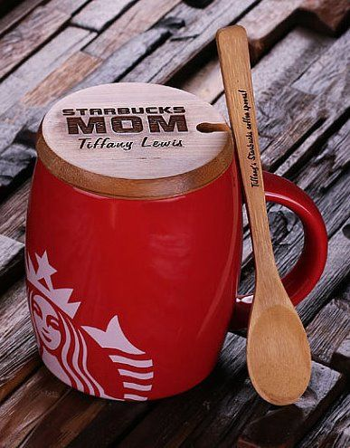 Personalized #Starbucks coffee mugs for mom, dad, a friend from Teals Prairie on Etsy:
