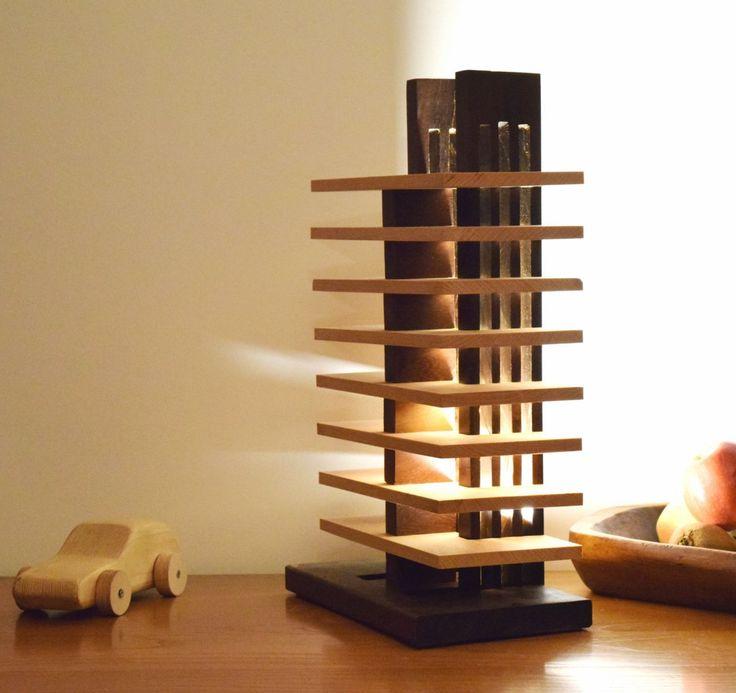 gesaro lampe en bois massif clairage led luminaires par woodlampdesign - Appliques Electrique Avec Interrupteur Aubade