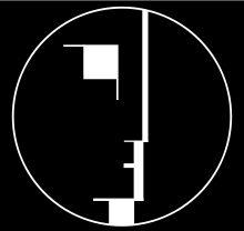 Bauhaus logo 1922 by Oskar Schlemmer