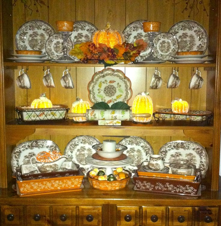 Attractive My Hutch Decorated For Fall With The Help Of QVCu0027s Temptations Fall  Bakeware And Valerie Par