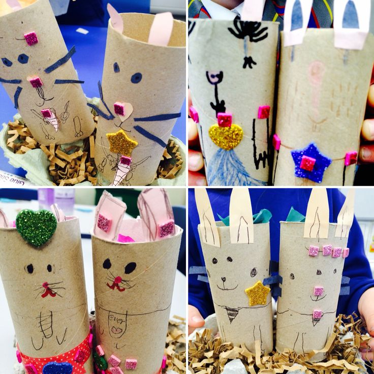 #crafteeki the mini makers make bunnies #cardboardtubes