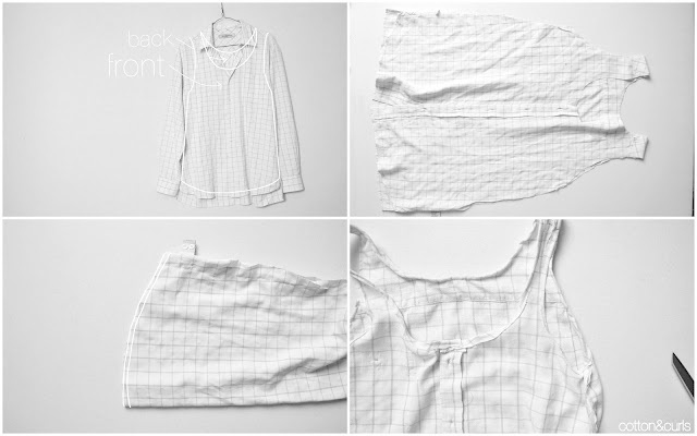 srta limón: Camiseta a partir de la camisa de tu chico