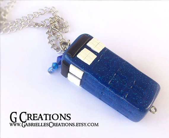 Tardis Necklace  Doctor Who Inspired Police by GabriellesCreations, $27.00