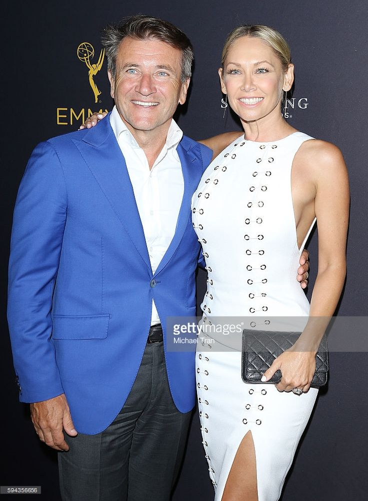 Robert Herjavec and Kym Johnson attend the Television Academy's Performers Peer…